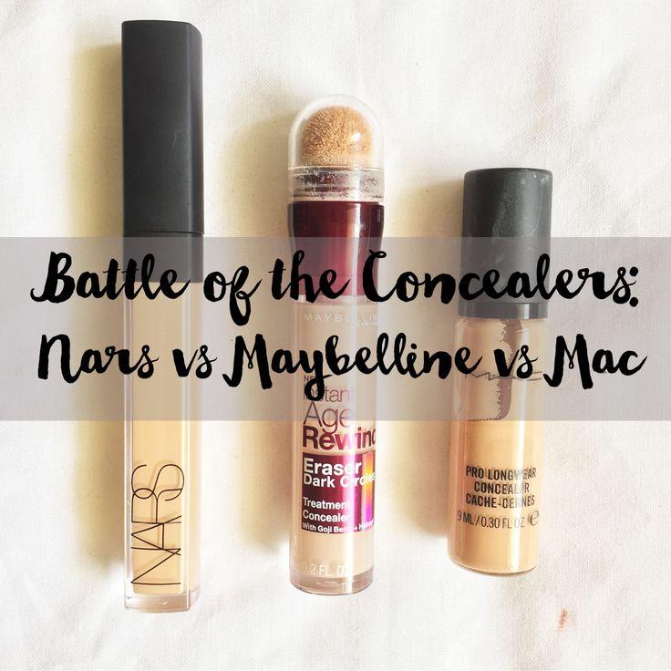 Battle of the Concealers: Nars vs Mac vs Maybelline