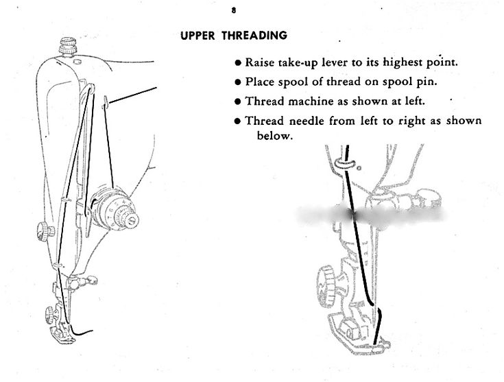vintage singer how to thread