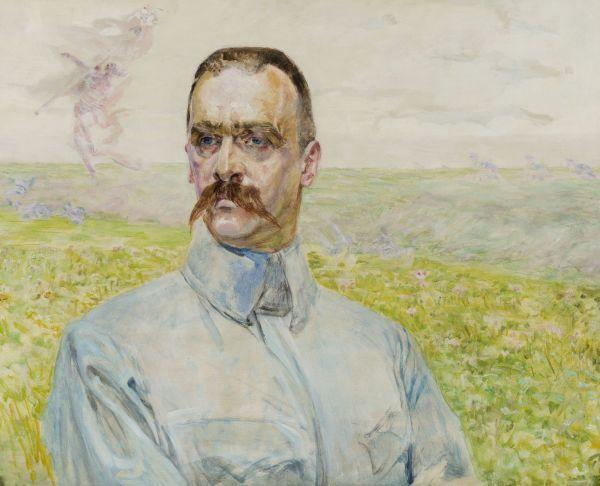 Portret brygadiera Józefa Piłsudzkiego - Jacek Malczewski