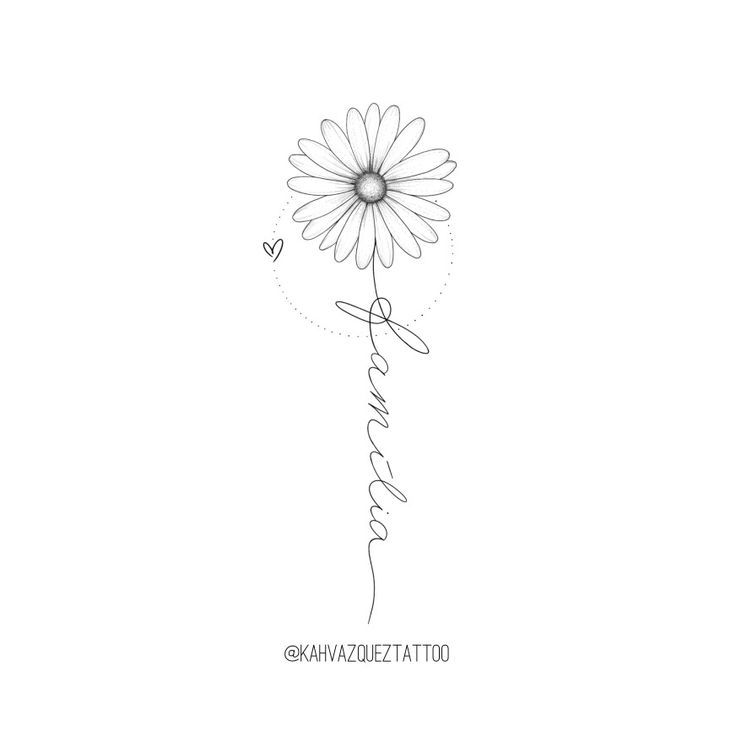 Daisy with family available for tattoo by @KahVazquezTattoo #FineLin