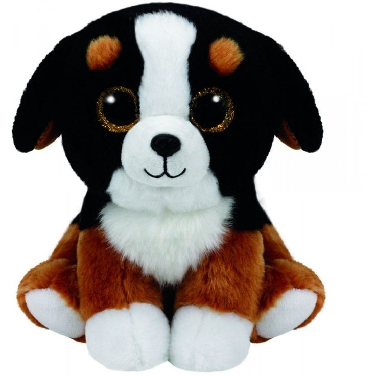 Ty Beanie Babies Roscoe Black White Dog Dog Beanie