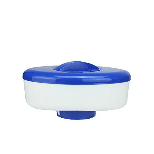 Felices Pascuas Collection 9 inch Classic Oval Blue and White Floating Swimming Pool Chlorine Dispenser