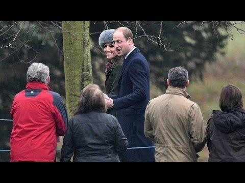 Queen Elizabeth II, William & Catherine attend Church Service (January 8...