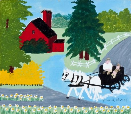 The Wedding Party by Maud Lewis