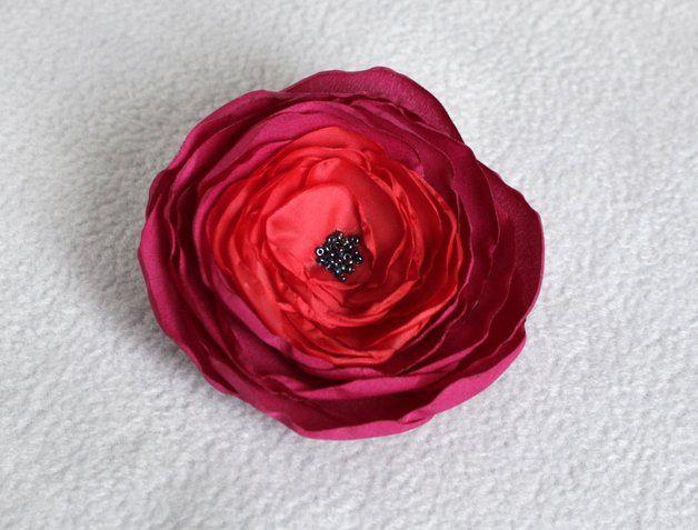 Broszka materiałowy kwiat