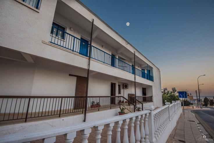 The moon is up to the sky and i just started... photoshooting Cordelia Hotel in Ayia Napa resort, Cyprus island.
