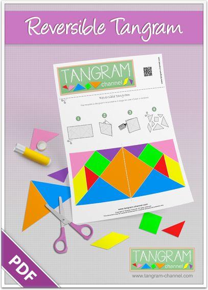 Reversible tangram set - Free printable tangram puzzle - www.tangram-channel.com