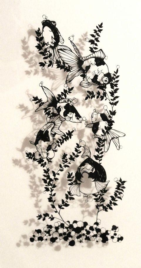 「金魚水槽」/「Misono」のイラスト [pixiv]