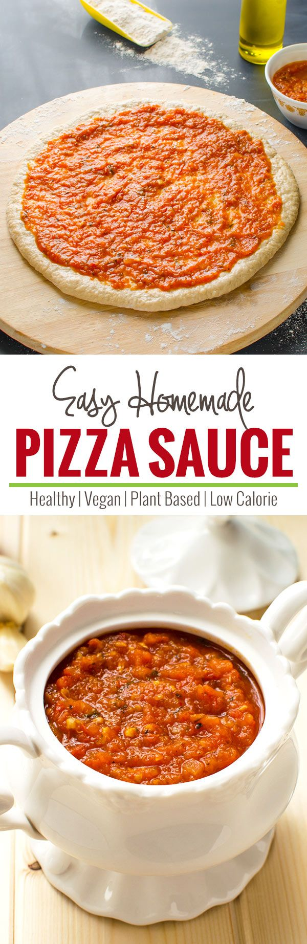 Easy homemade pizza sauce --This sauce is made from fresh tomatoes and fresh spices to get ultimate fresh flavors and taste.   watchwhatueat.com