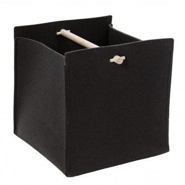 Vasu basket, wool felt & birch wood