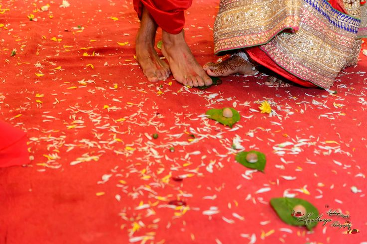 "Saptapadi (English: seven steps, saptapadī) is the most important rite of a Hindu marriage ceremony. The word, Saptapadi means ""Seven steps"". After tying the Mangalsutra, the newly wed couple take seven steps around the holy fire, that is called Saptapadi."