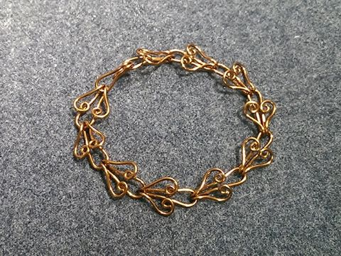 Heart chain  bracelet - How to make wire jewelery 205
