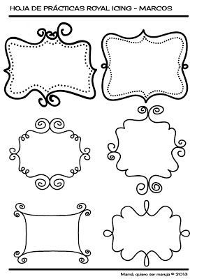 Mamá, quiero ser maruja: Plantillas Royal Icing (Glasa Real):