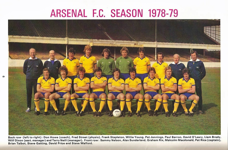 Arsenal 1978-1979 squad in that beautiful away kit.