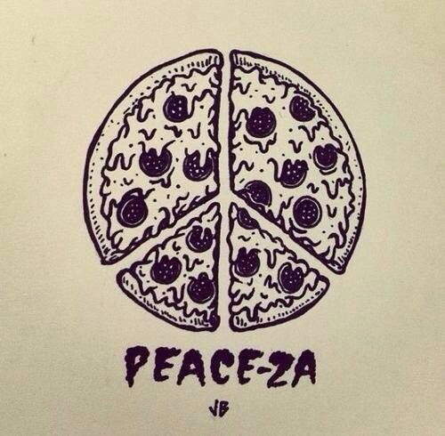 Image result for peace pizza