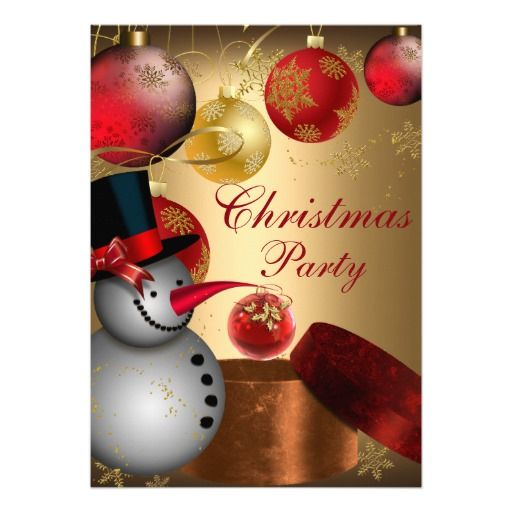 71 best christmas holiday party images on pinterest christmas gold snowman christmas party invitation stopboris Gallery