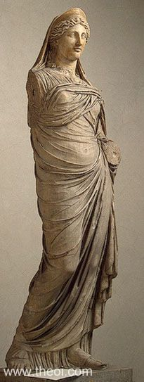 """PERSEPHONE  Museum Collection:State Hermitage Museum, St Petersburg, Russia  Catalogue Number:TBA Title:""""Persephone"""" Class: Free-standing statue Material:Marble Height:1.96 metres  Context:-- Original / Copy:Roman copy of Greek statue  Style:-- Date:C2nd AD  Period:Imperial Roman"""