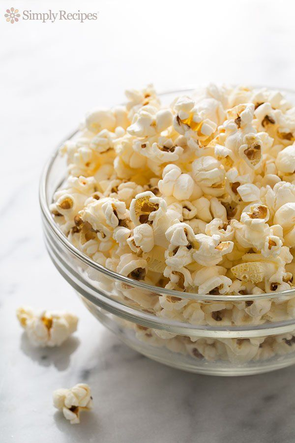 Learn how to make PERFECT popcorn on the stovetop. No burnt kernels! Easy stove-top popcorn recipe on http://SimplyRecipes.com