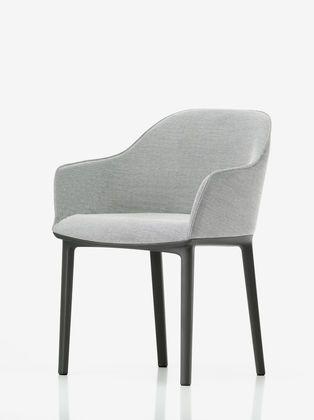 "Vitra Softshell Chair | Ronan & Erwan Bouroullec 2008 | 32.25"" h | 24.25"" w | 22.25"" d | seat: 17.5"" h"