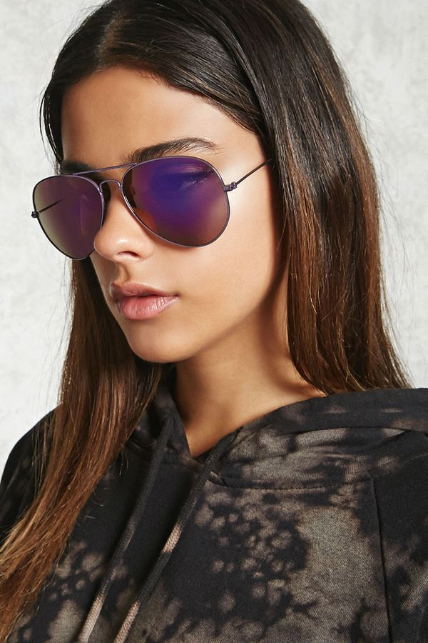 FOREVER 21+ Mirrored Aviator Sunglasses