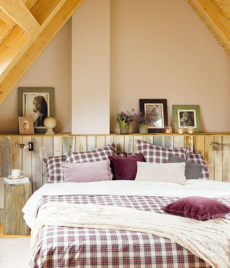 17 mejores ideas sobre decoraciones de dormitorios - Cabeceros de cama rusticos ...