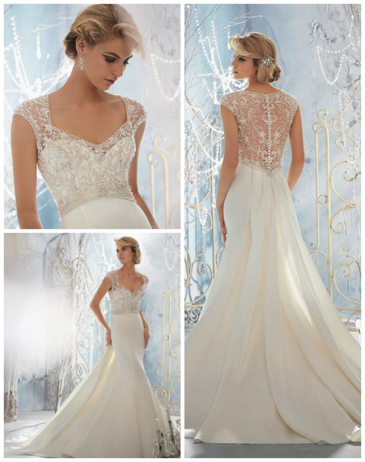 Fancy Mori Lee By Madeline Gardner Wedding Dress Composition ...