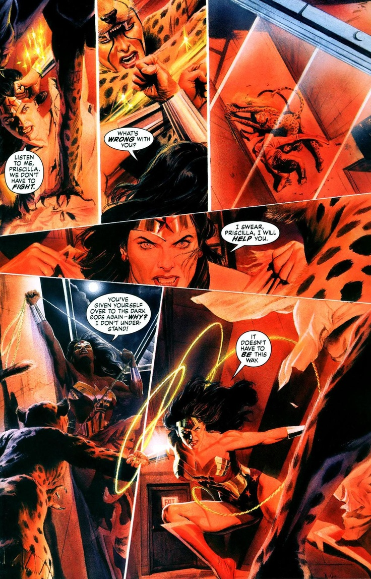 Wonder Woman vs Cheetah by Alex Ross (3 of 5) | *Artist ...