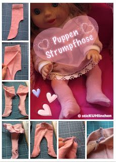 sticKUHlinchen: Eine Puppenstrumpfhose aus Socken nähen - TUTORIAL