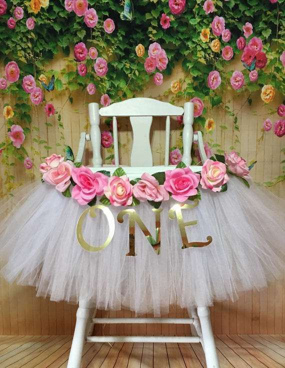 First Birthday High Chair Tutus | CatchMyParty.com
