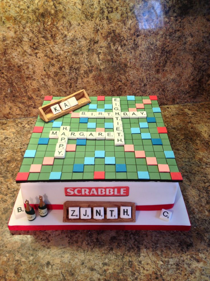 Board Games - Scrabble Themed Cake More
