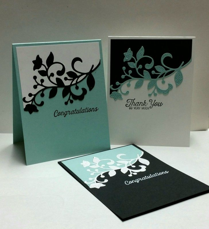 Inlaid Flourish Trio by mamaxsix - Cards and Paper Crafts at Splitcoaststampers