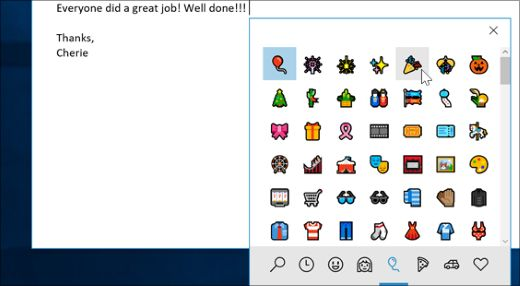 Use emojis any where on your computer---Emoji panel open in Outlook
