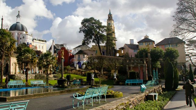 Portmeirion Piazza, Snowdonia - one suggested place to visit in Wales, according to this article