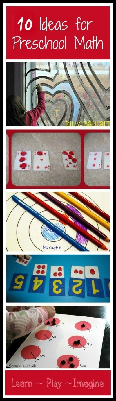 10 hands on math activities for preschool