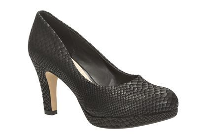 *lusting* Womens Smart Shoes - Crisp Kendra in Black Snake from Clarks shoes