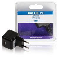 Valueline USB AC-lader USB A female - AC-huisaansluiting zwart (VLMB11955B)  Deze USB-lader is geschikt voor het opladen van verschillende soorten mobiele apparaten thuis. Houdt u er rekening mee dat er een USB-apparaatkabel nodig is.  EUR 22.99  Meer informatie