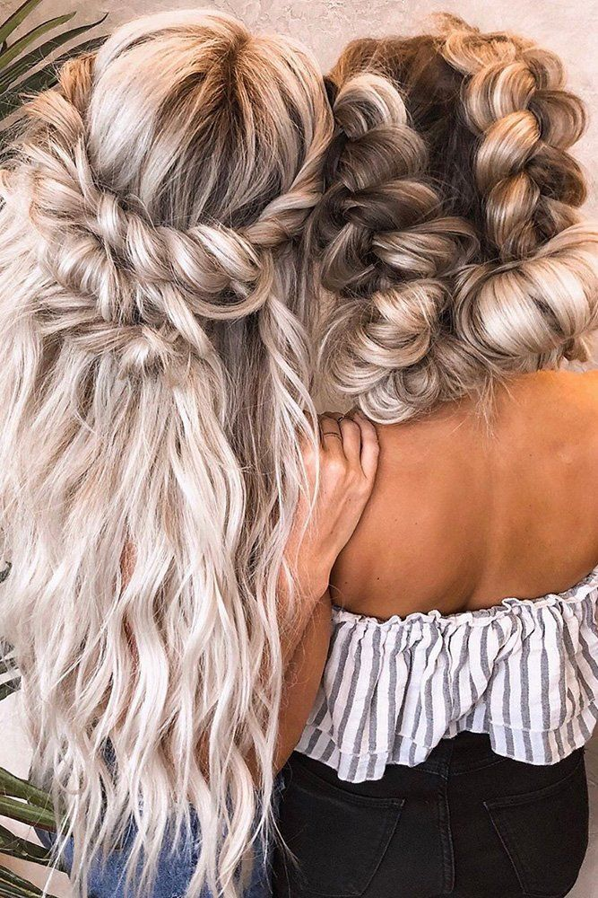 48 Perfect Bridesmaid Hairstyles Ideas Wedding Forward In 2020 Hairdo For Long Hair Hair Styles Boho Hairstyles For Long Hair