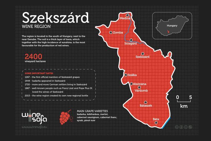 Szekszárd wine region infoposter