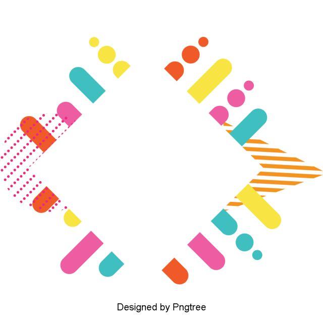 colorful geometric line border beautiful square flatpoint circletriangle clip art png geometric lines design dan art