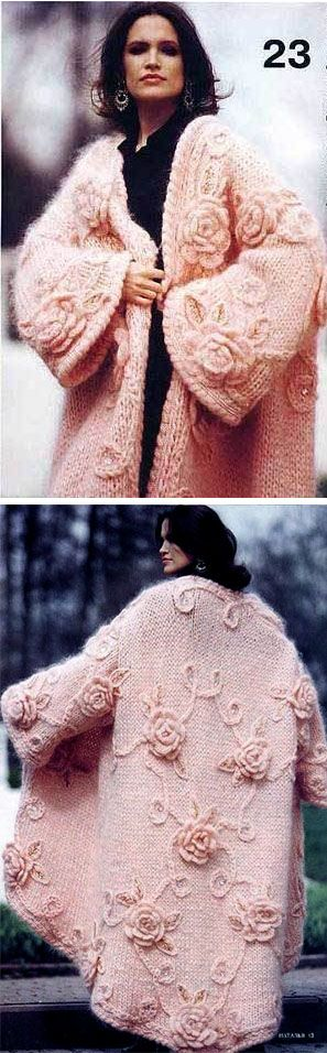 Russian knit coat. No designer info available.