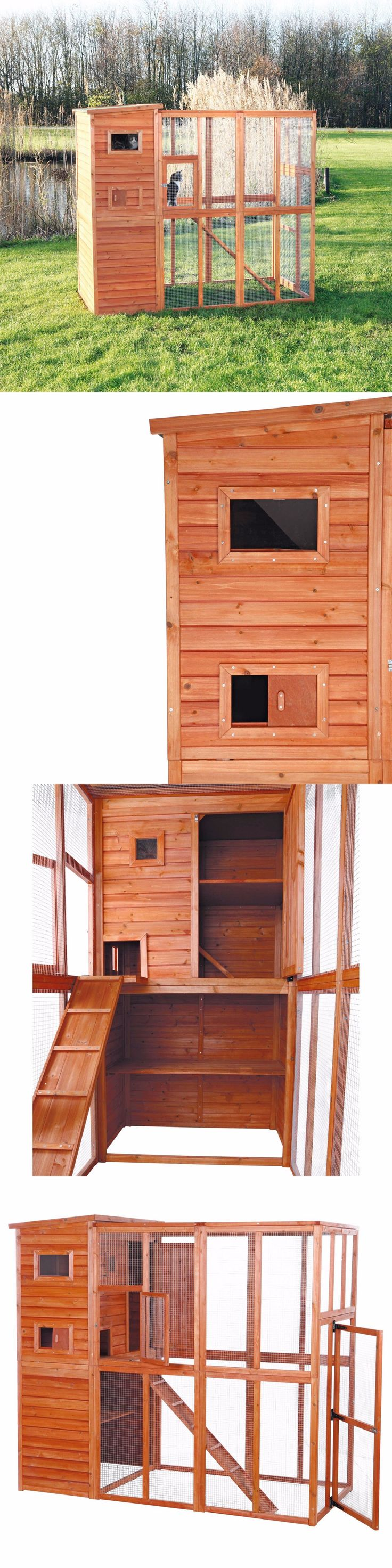 Carriers and Crates 116362: Outdoor Cat Run Enclosure Wooden Fun Small Animal Shelter Pet Tunnel House -> BUY IT NOW ONLY: $479.01 on eBay!