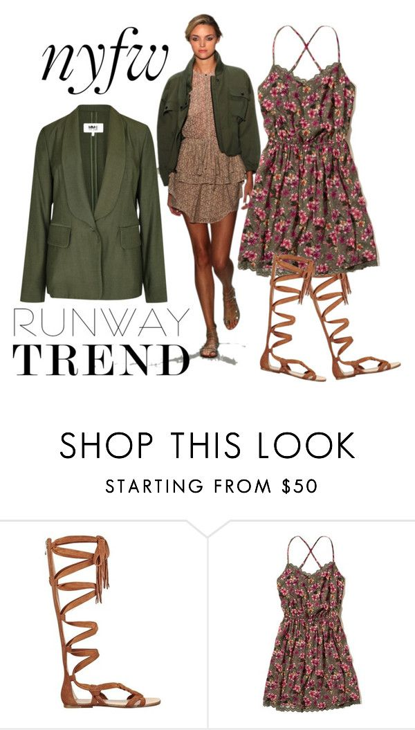 """army look meets girl next door"" by nimas on Polyvore featuring Marissa Webb, Sigerson Morrison, Hollister Co. and MM6 Maison Margiela"