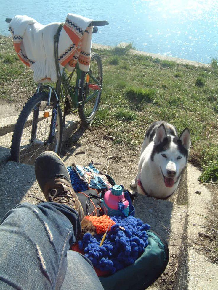 outdoor crochet trip