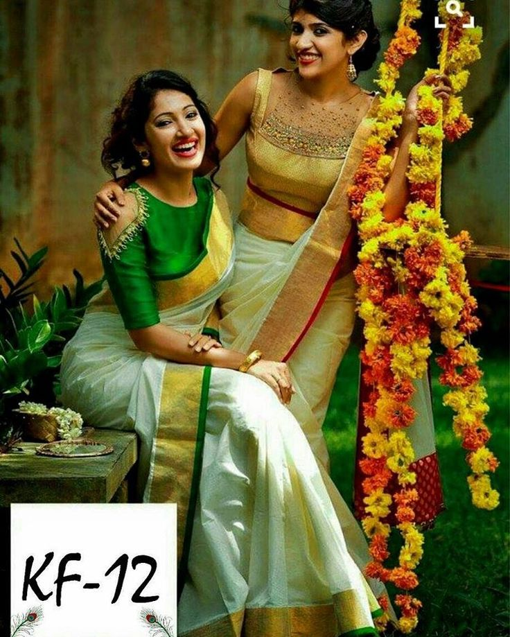 """160 Likes, 2 Comments - Couture Attire (@couture_attire) on Instagram: """"Checkout this Chanderi silk green and white saree  Product Info : KF - 12 Fabric Chanderi Blouse…"""""""