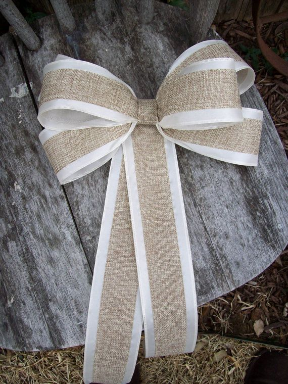 Burlap Pew Bows, Burlap Wedding, Aisle Decor, Rustic Wedding, Shabby Chic, Pew Bows, Wreath Bows