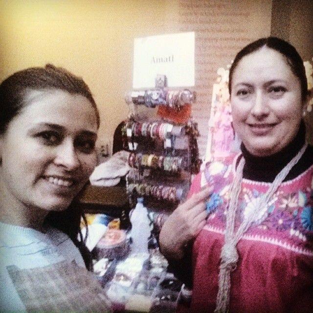 """Selfie con Hikda Amatl Koopman su empresa. Amalt. Mexicaanse Kunst"""