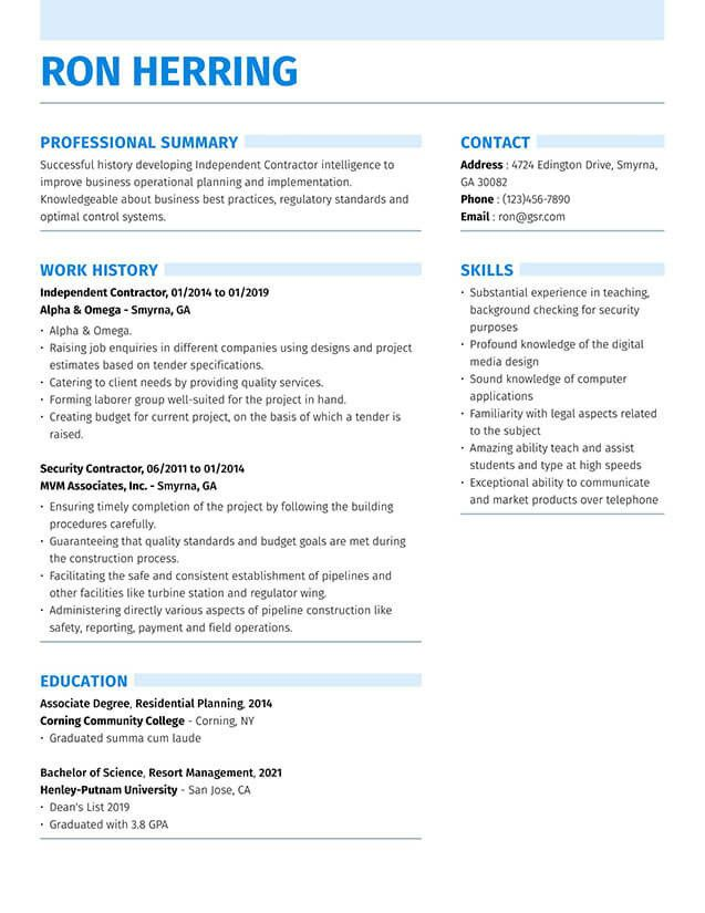 Resume Format Quality Control 2021 Project Manager Resume Job Resume Samples Manager Resume