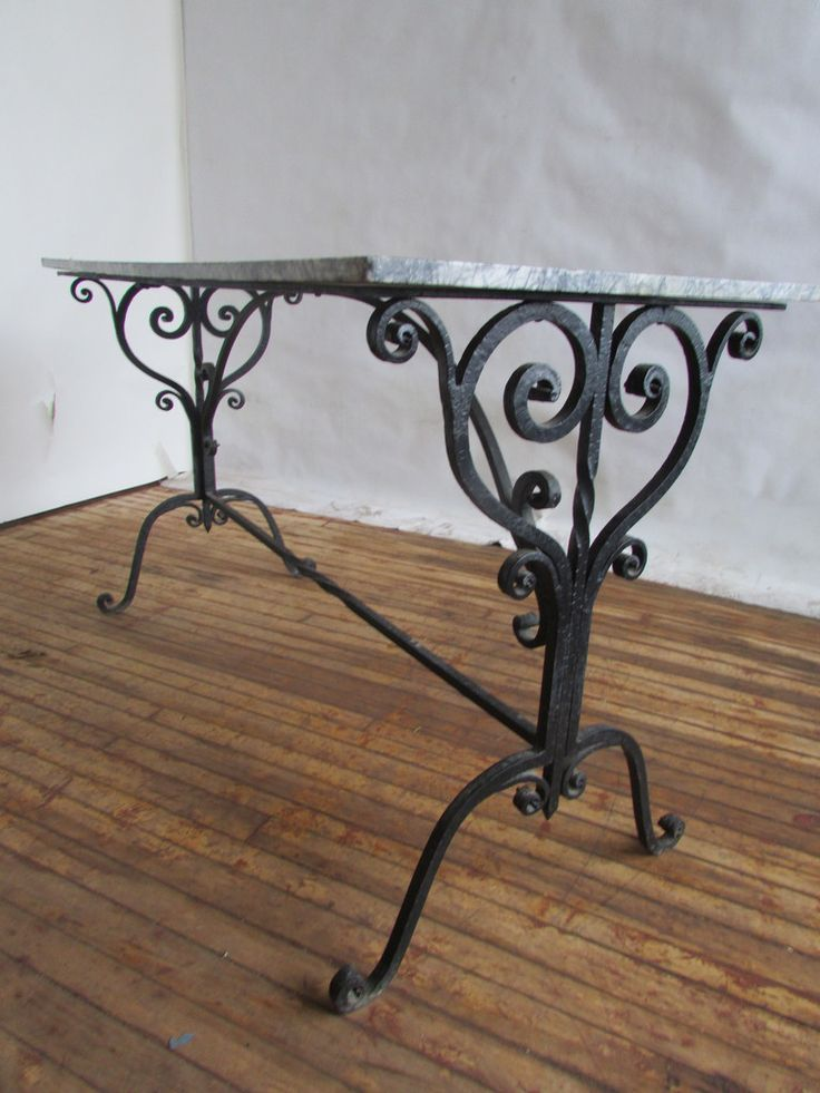 French Iron And Marble Pastry Table