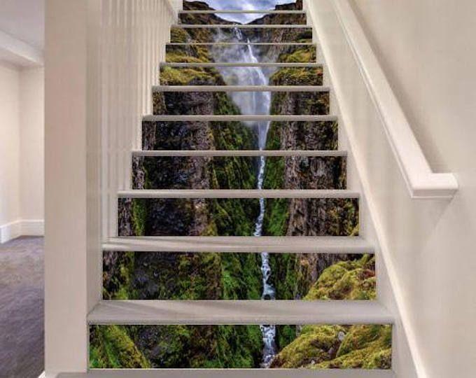 Waterval trap decoratie zelfklevend vinyl trap riser panelen trap