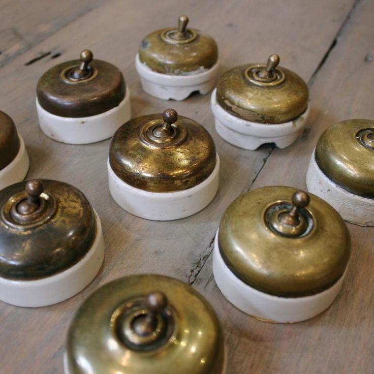 Antique Edwardian Brass Light Switches at thearchitecturalforum.com & 80 best Antique u0026 Salvaged Lighting images on Pinterest | Antique ... azcodes.com